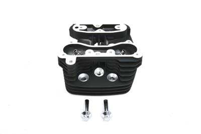 Includes seats and guides installed to fit 1200cc XL models. Head is stock style with black finish, discontinued.