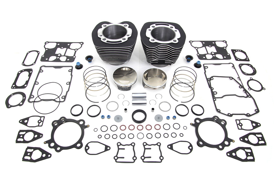 Vtwin Black 110 Motorcycle Cylinder Engine Kit for 07-17 Harley Touring Softail