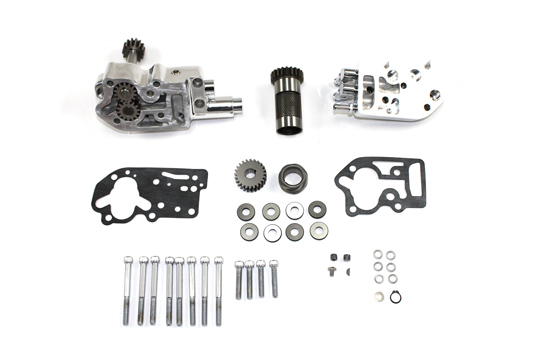 V-Twin Mfg 12-9802 Polished Oil Pump Assembly with Breather