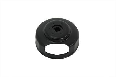 "Black oxide oil filter wrench tool is used with 3/8"" drive."