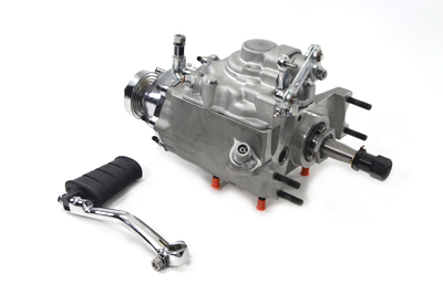 V-Twin Manufacturing - Replica 4-speed transmission with rotary top