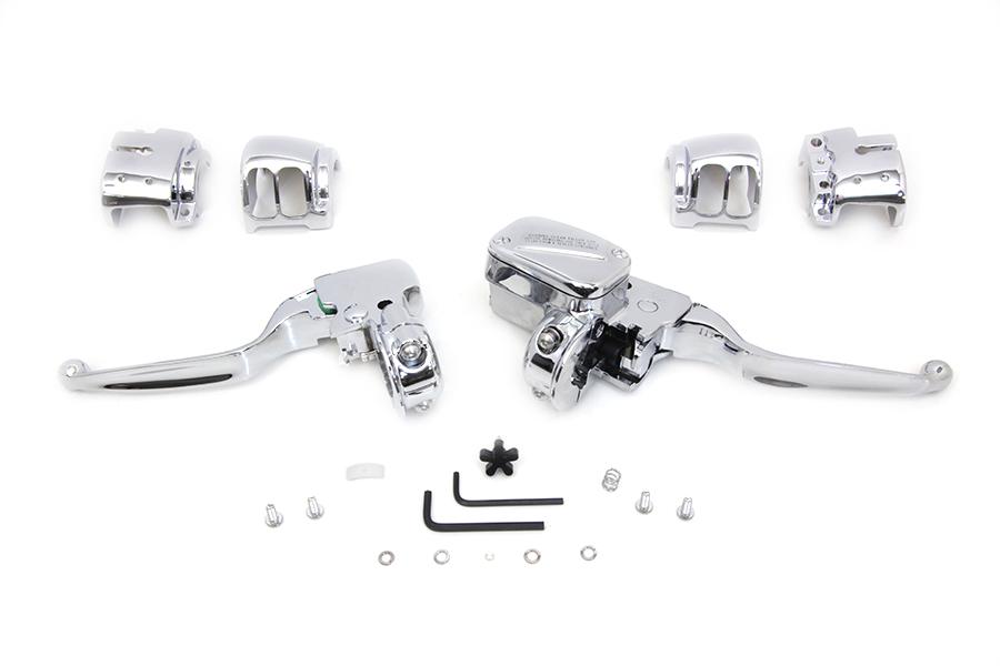 Handlebar Control Kit Chrome,for Harley Davidson,by V-Twin