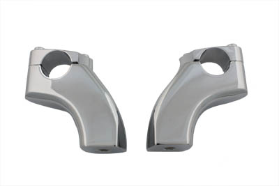 "Chrome pullback riser set for 1-1/4"" handlebars. Features a 2"" pullback and a height of 3-1/2"