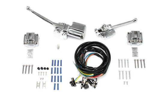 handlebar control kit chrome for harley davidson