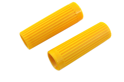 V-Twin Manufacturing - Yellow grip set is molded plastic ...