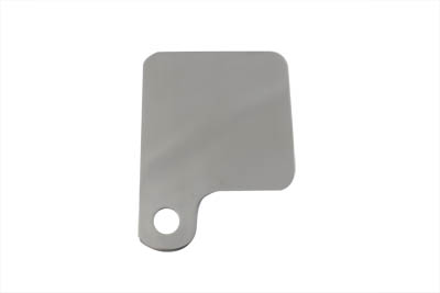 Inspection tag holder has a stainless steel finish with rounded corners on all sides and edges. Tag holder is strong , light weight and looks great.