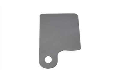 Inspection tag holder has a shiny chrome finish with rounded corners on all sides and edges.