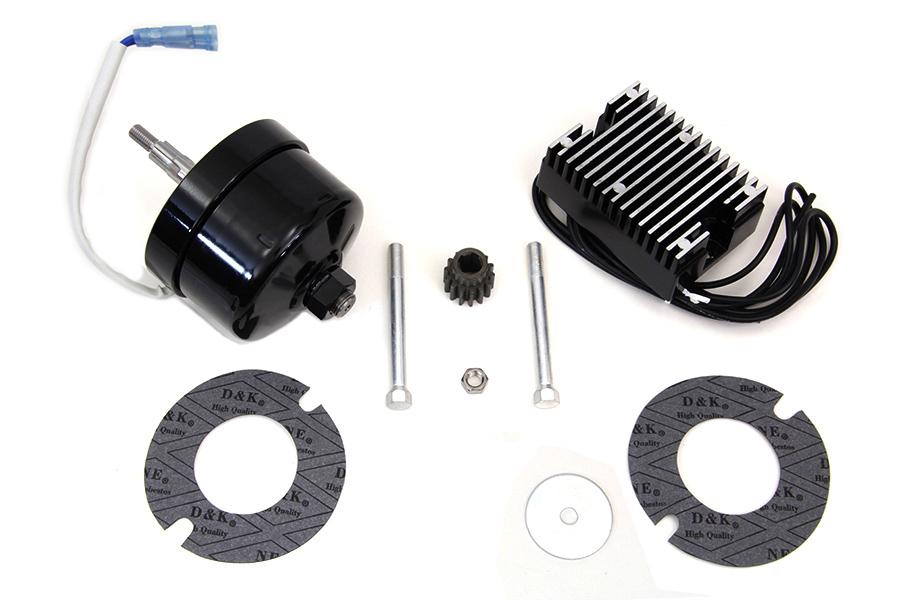 chrome 12 volt alternator generator conversion kit for harley davidson motorc. Black Bedroom Furniture Sets. Home Design Ideas