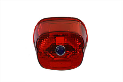 V-Twin Laydown Blue Dot Taillight Red Lens for 04-07 Harley Touring FLT