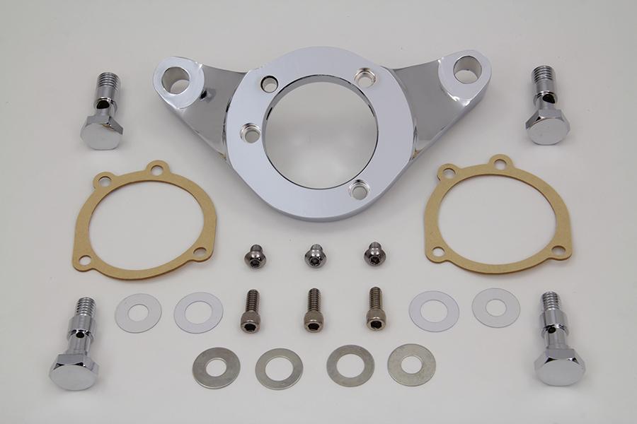 Vtwin Chrome Carb/EFI Air Cleaner Bracket Kit for 93-17 Harley FLT FXD FLST FXST