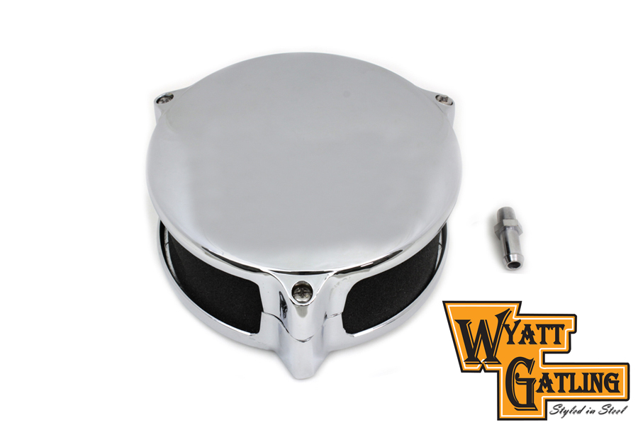 Wyatt gatling chrome deco air cleaner assembly for harley davidson motorcycle ebay for Air deco