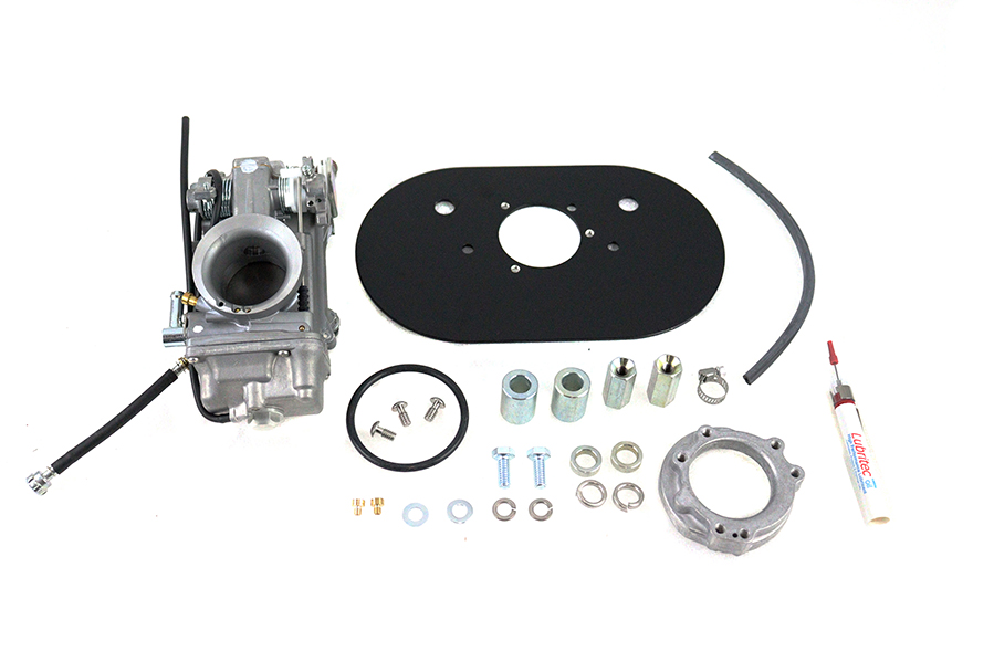 V-Twin Manufacturing - Mikuni 42mm carburetor easy kit is