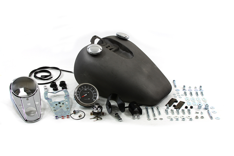 Vtwin Bobbed 3.2 Gallon Bolt On Gas Fuel Tank Kit for 52-78 Harley Sportster XL