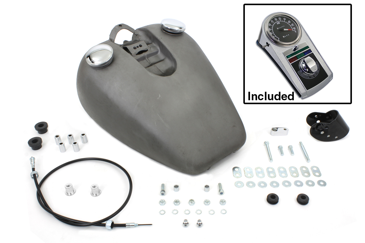 FAT BOB GAS TANK WITH DASH PARTS FOR HARLEY SPORTSTER XL 1982-1994