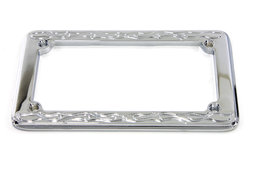 License Plate Frame Flame Style fits Harley Davidson,V-Twin 42-1574 ...