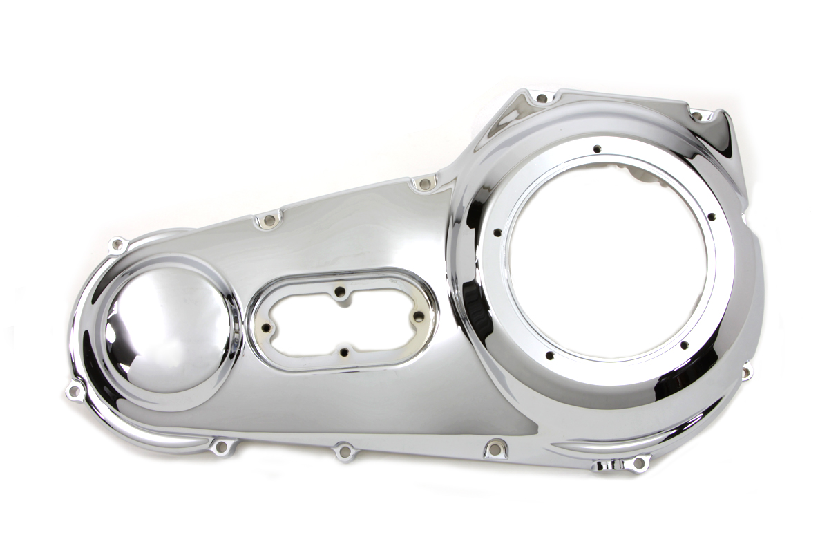 Chopper Primary Cover : Chrome outer primary cover for harley davidson motorcycles