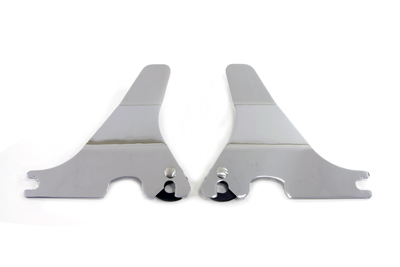Chrome detachable side plates for easily adding or removing detachable accessories.