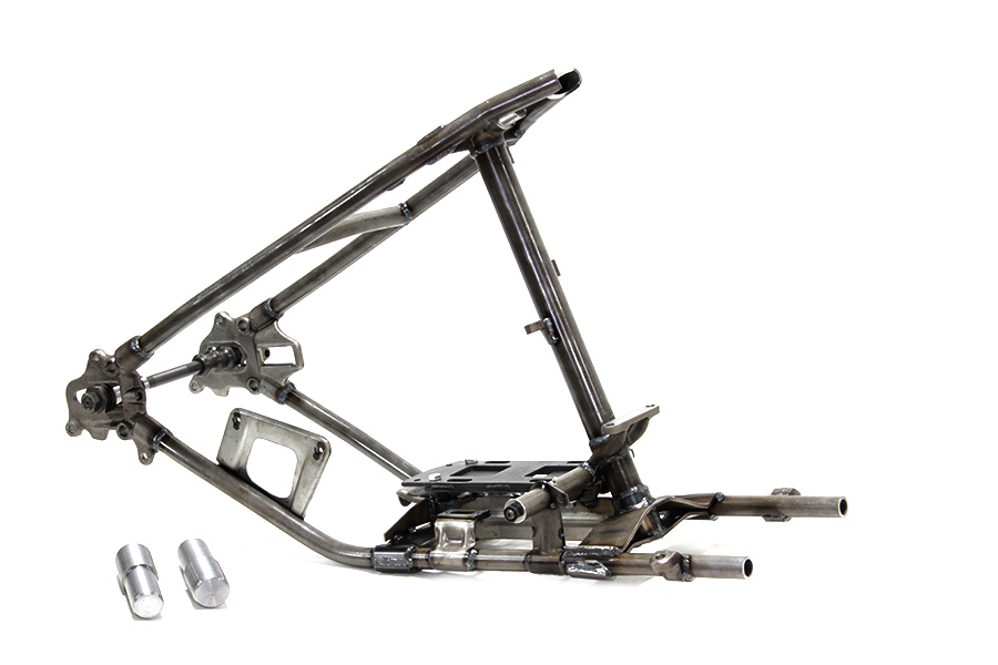 Rigid Steel Frame Construction Detail : V twin manufacturing rigid hardtail frame raw steel rear