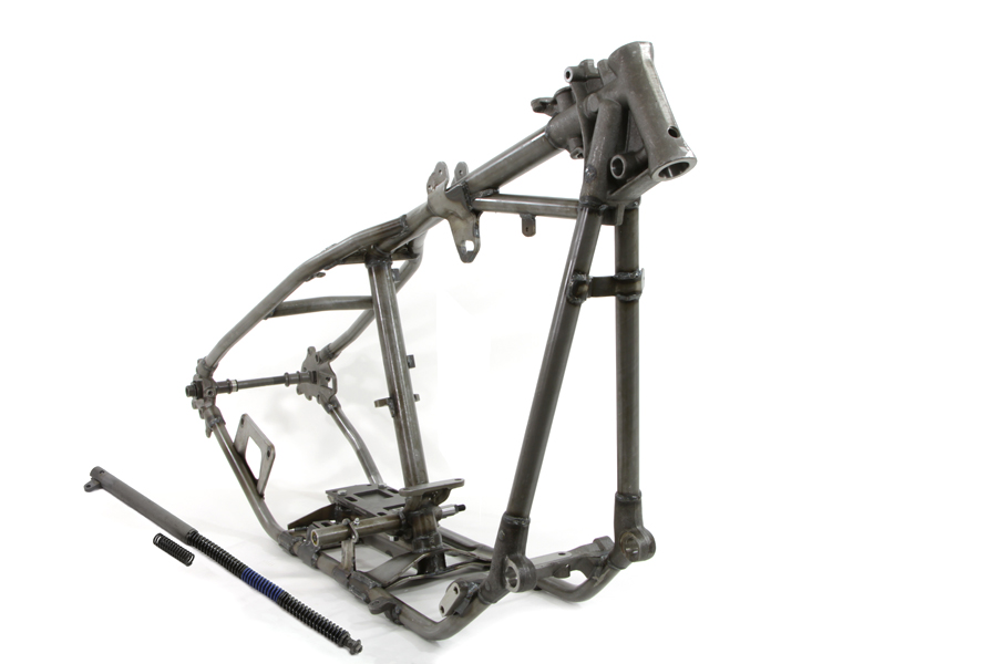 V-Twin Manufacturing - Replica straight leg rigid frame with cross ...