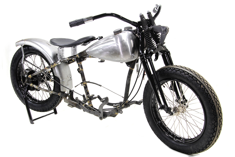 V-Twin Manufacturing - 45 WL bobber chassis kit includes a replica ...