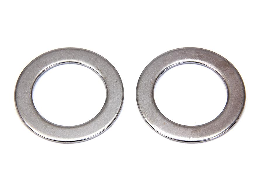 V-Twin Mfg 9964-2 Fork Tube Plug Chrome Washer