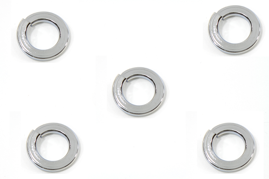 V-Twin Mfg 9971-5 Lock Washers Chrome