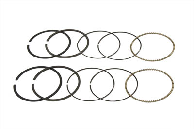 """*UPDATE 3-5/8"""" Shovelhead Piston Ring Set .010 Oversize"""