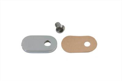 Chrome Speedometer Sensor Block Off Plate Kit