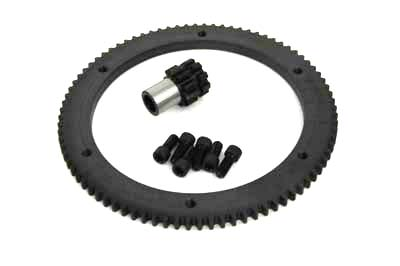 84 Tooth Clutch Drum Ring Gear Kit Chain Drive fits Harley Davidson,V-Twin 18...