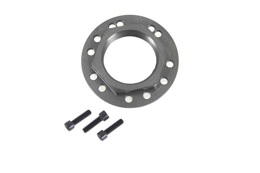 Hex Flange Sprocket Nut Black