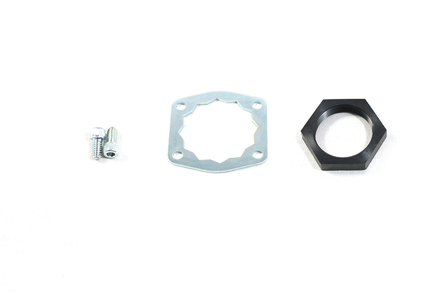 Front Belt Drive Lock Plate and Nut Kit