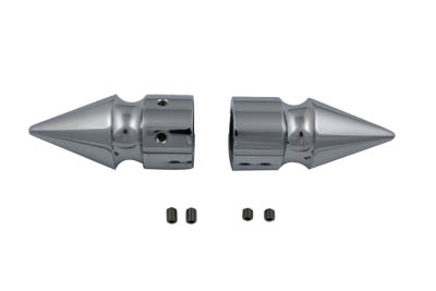 Chrome Front Axle Cover Set Pike Style