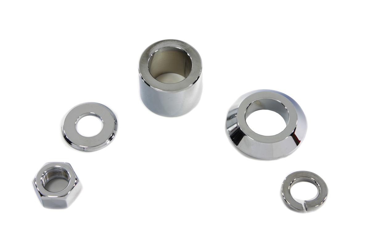 Front Axle Spacer Kit Smooth Style Chrome