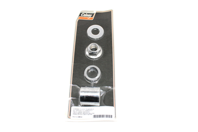 Rear Axle Spacer Kit Groove Style Chrome