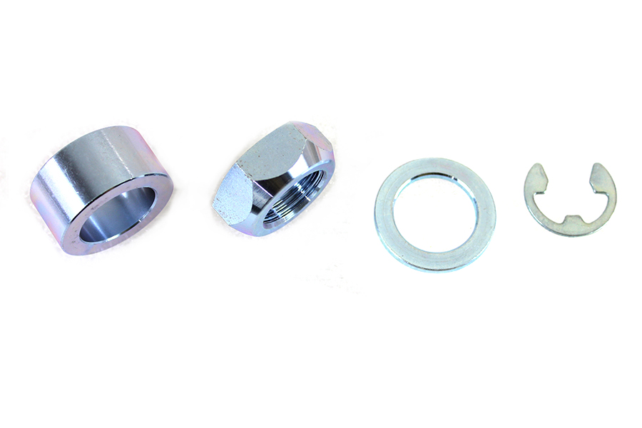 Rear Axle Spacer Set Smooth Style Chrome