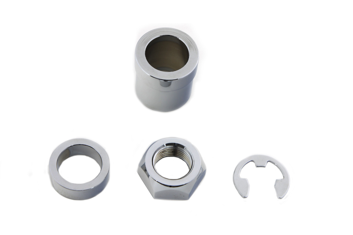 Rear Axle Nut Kit Chrome