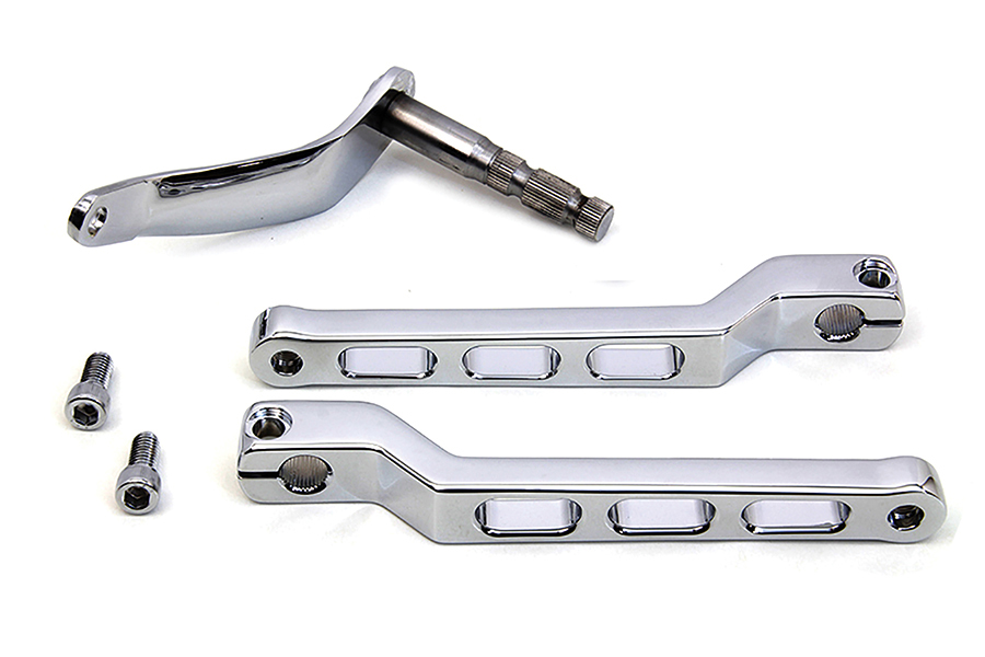 Billet Style Heel Toe Shifter Lever Kit Chrome