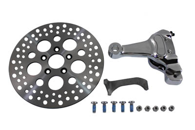"*UPDATE Chrome Rear 4 Piston Caliper and 11-1/2"" Disc Kit"
