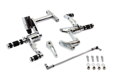 Billet Forward Control Kit with Master Cylinder