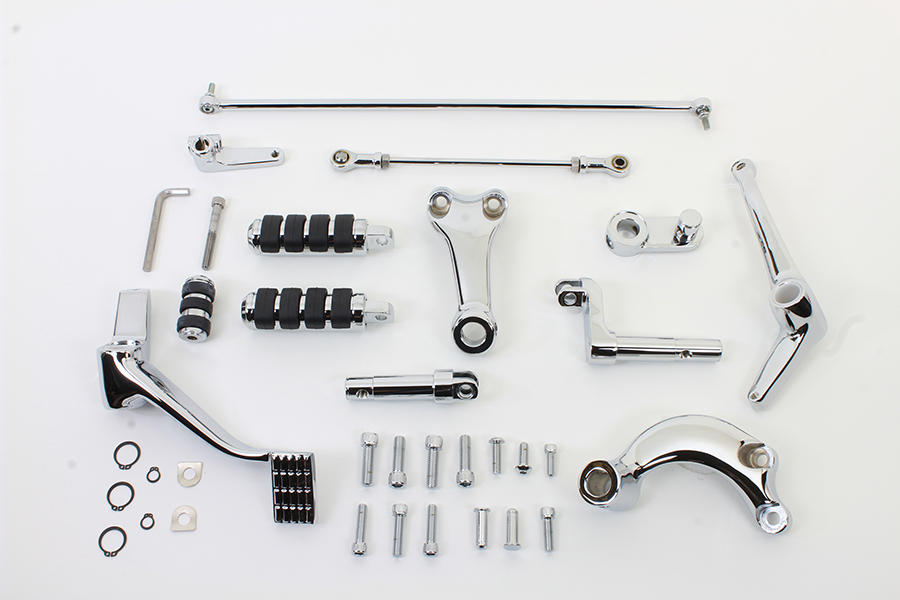 "Chrome 2"" Extended Forward Control Kit"