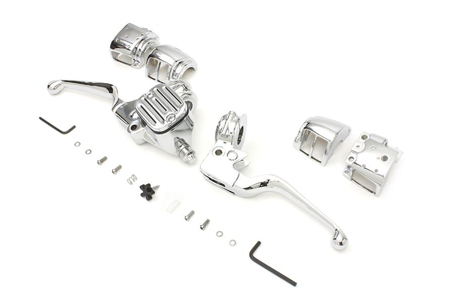 chrome handlebar control kit for harley davidson
