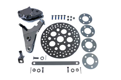 "*UPDATE Chrome Rear Dual Piston Caliper and 11-1/2"" Disc Kit"