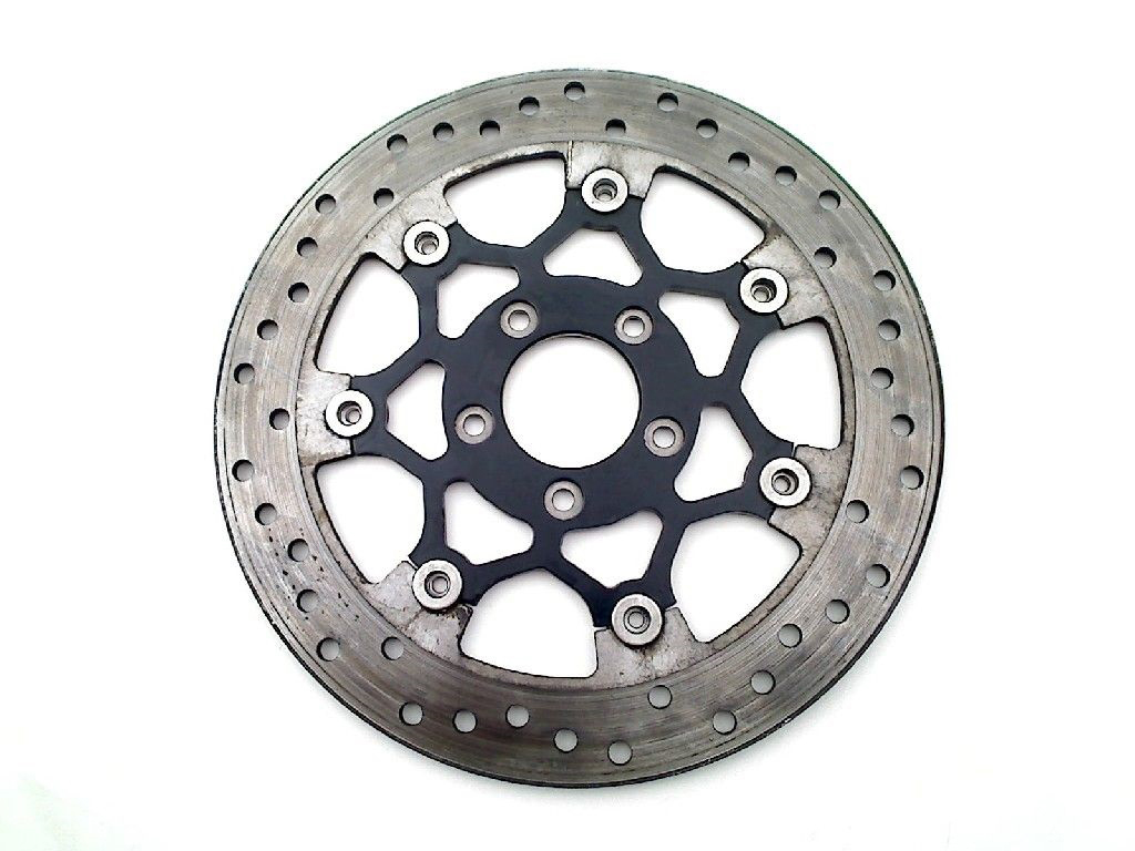 "Floating Stainless Steel & Black 11.8"" Front Brake Disc"