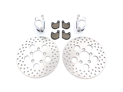 """Front Dual Disc Calipers and 10"""" Disc Kit"""
