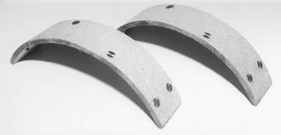 Rear Brake Shoe Linings with Rivets