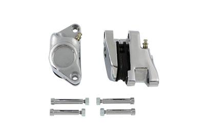 Chrome 1-Piston Front Brake Caliper Set