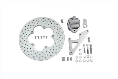 "Front Brake Caliper Chrome and 11-1/2"" Disc Kit"
