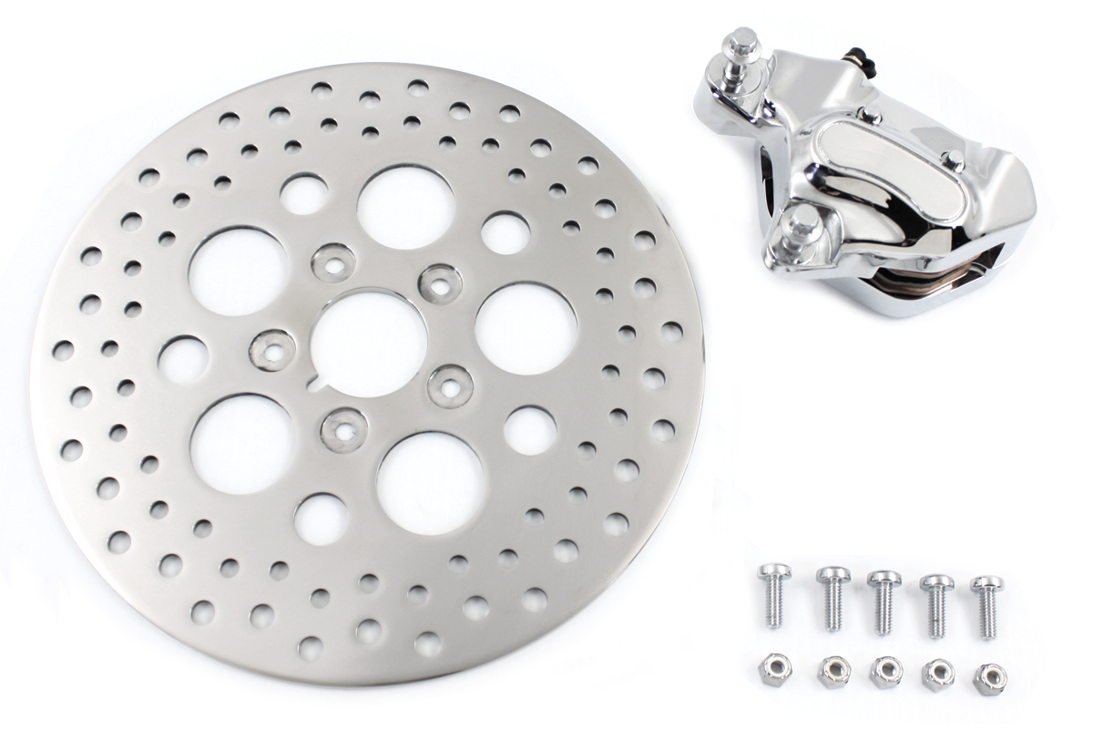 "Front 4 Piston Brake Caliper and 11-1/2"" Disc Kit"