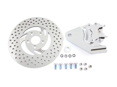 "Chrome Rear 4 Piston Caliper and 11-1/2"" Disc Kit"