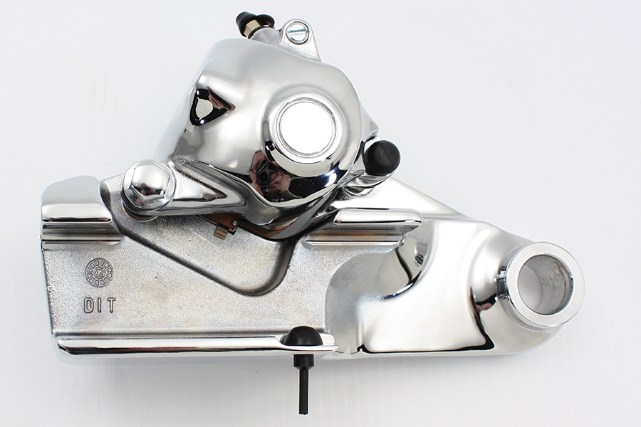 Chrome Rear Caliper with Bracket